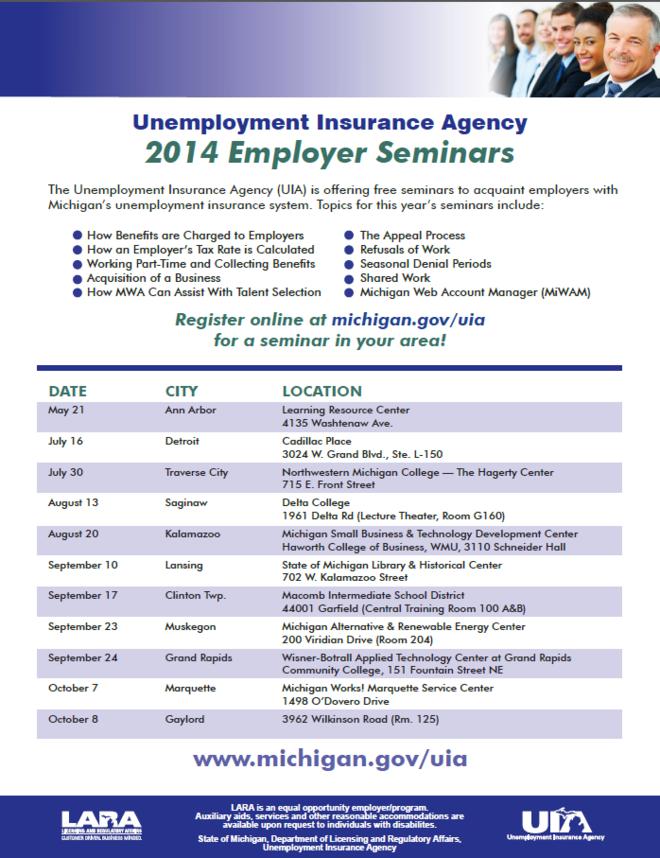 Unemployment Insurance Agency 2014 Employer Seminars ...