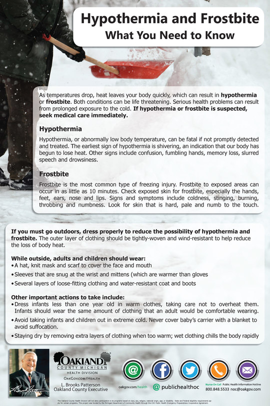 Cold Weather Precautions & Resources