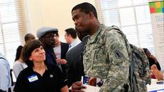 Photo of Veteran at Recruiting Event