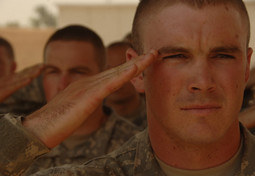Saluting servicemember