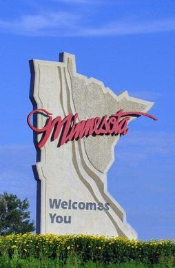 Welcome to Minnesota sign