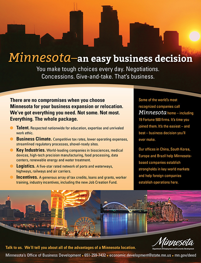 Minn ad in SKYWAY magazine