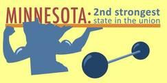 Minnesota second strongest state logo
