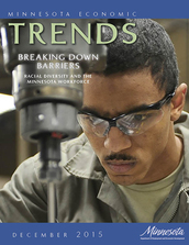 Cover of December 2015 issue of Trends magazine