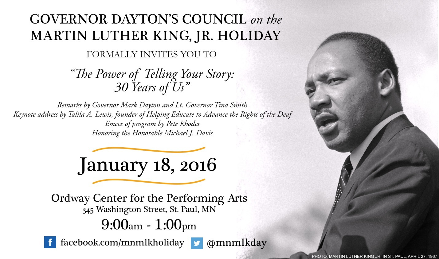 MLK Day: The Power of Telling Your Story: 30 Years of Us