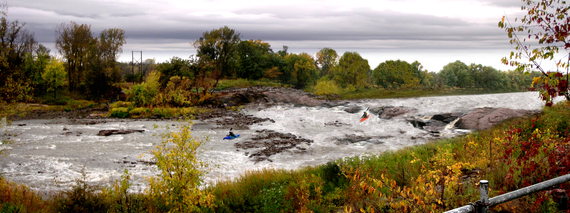 Artist's rendition of what the rapids could look like at Minnesota Falls