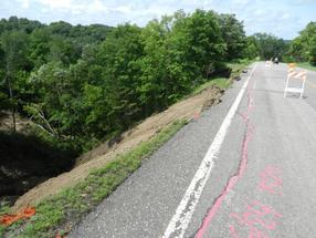 road slope failure - June 2014