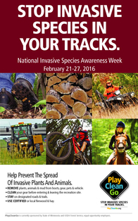 National Invasive Species Awaremenss Week poster