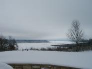 snow landscape at frontenac