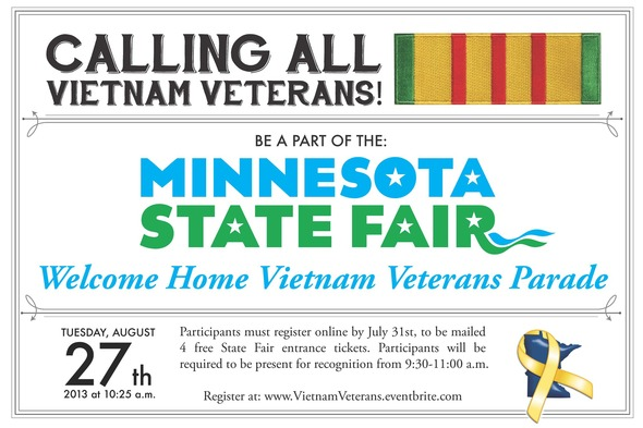 State Fair call for Vietnam Veterans