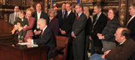 Governor Dayton signs the HHS Omnibus Bill