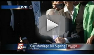Video: live coverage of Governor Dayton signing Minnesota marriage equality bill