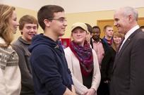 Governor Dayton & Winona State University Students