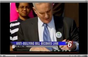 Governor Dayton signs anti-bullying legislation