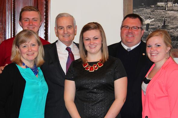 Governor Dayton and the Zuzek Family