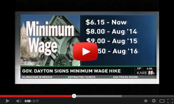 Watch This: Governor Dayton Signs Minimum Wage Increase
