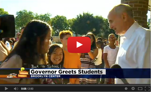 Governor Greets Students [Video]