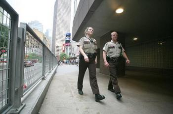Deputies patrol downtown Minneapolis