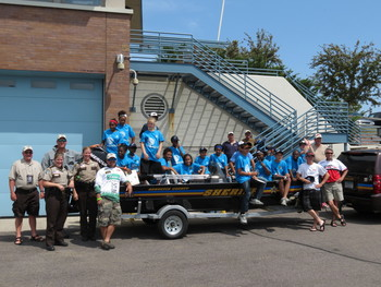 Group at Hooked on Fishing 2012