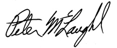Peter McLaughlin signature