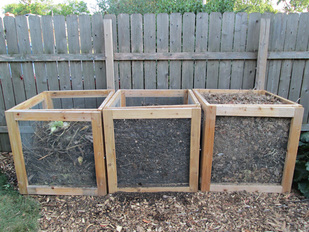 Three Compost Bin System
