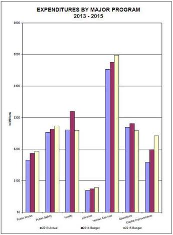 2015 budget by program