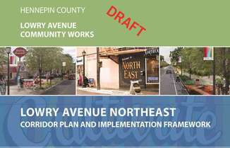 Front cover of Lowry Avenue Northeast draft plan