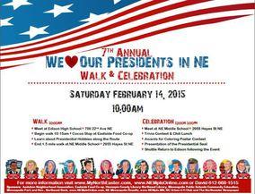 Presidents' Day Walk flyer