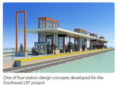 SW LRT station design concept