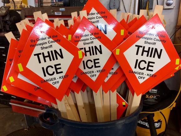 Thin Ice Sign