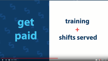 Get paid for training and shifts served