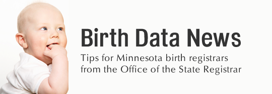 Birth Data News