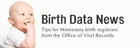 Birth Data News