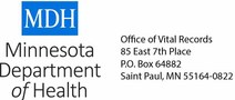 Minnesota Department of Health logo and address