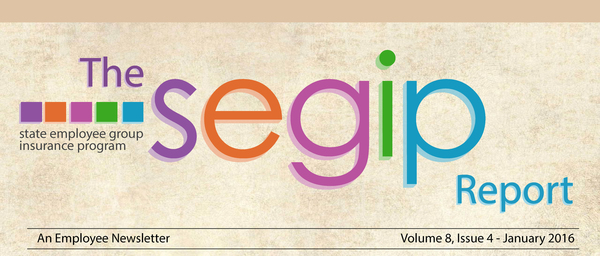 The SEGIP Report - An Employee Newsletter. Volume 8, Issue 4 - January 2016