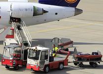 baggage handlers at airport