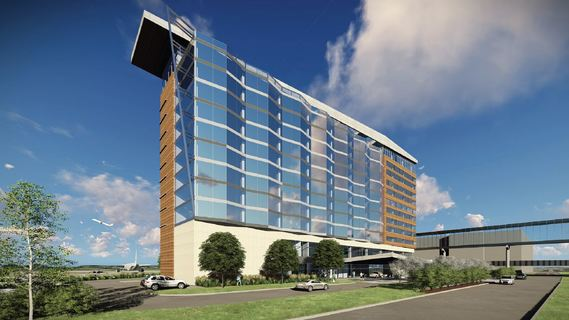 rendering of new MSP airport hotel