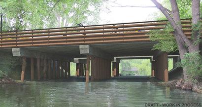 Rendering of Steel Pier bridge concept