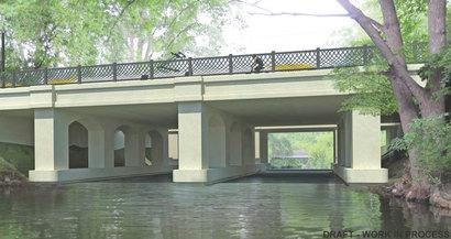Rendering of Arch Pier bridge concept