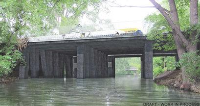 Rendering of Thin Deck bridge concept