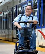 Transit rider in wheelchair