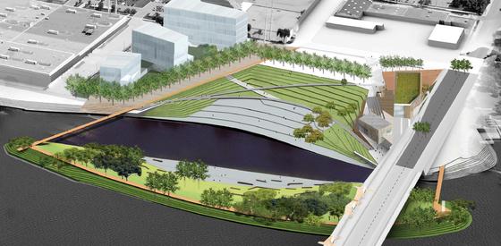 Scherer site concept rendering