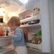 Looking in the frige
