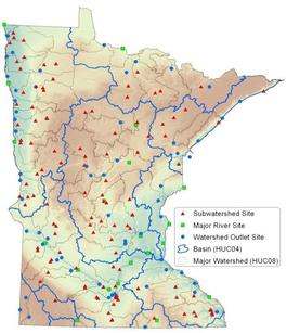 Watershed Pollutant Load Monitoring Network sites