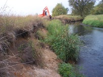 Start of streambank restoration at Empire WWTF