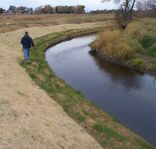 Streambank during restoration at Empire WWTF