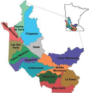 MN River basin map
