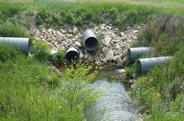 Drainage systems in Sac County, Iowa