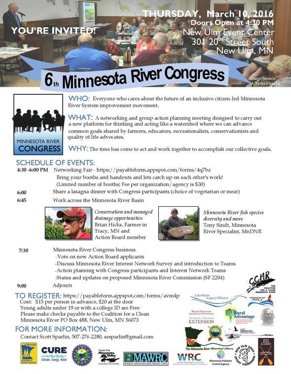 6th MN River Congress flyer