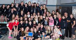 girls swim and dive team